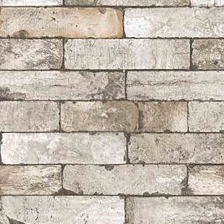 Papel de Parede Stone Age 2 Tijolinho Pedra Marrom SN604501R