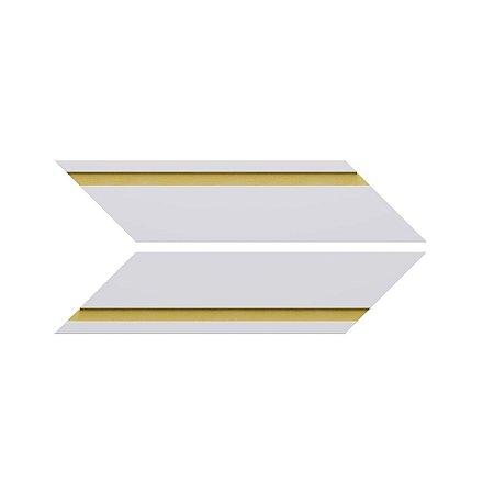 Revestimento de Parede Chevron Frisado 35,5cm x 7cm Dourado 21346