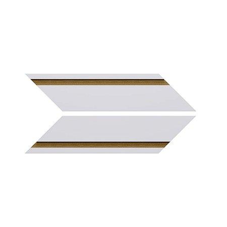 Revestimento de Parede Chevron Frisado 35,5cm x 7cm Cobre 21347