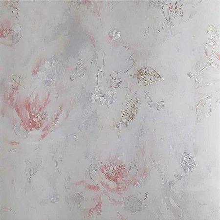 Papel de Parede Elegance 2 Floral Rosado EL201401R