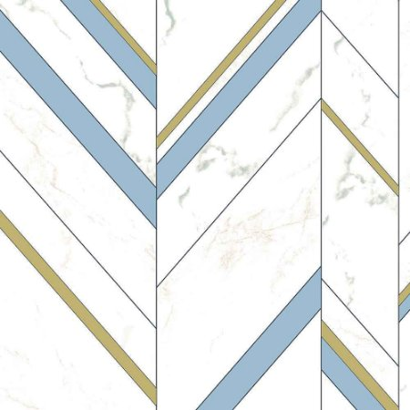 Papel de Parede Elegance 2 Geométricos Azul Claro EL201801R