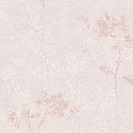 Papel de Parede Elegance 2 Floral Rosa EL202202R