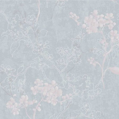 Papel de Parede Elegance 2 Floral Azul EL202204R