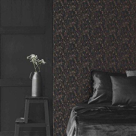 Papel de Parede Green Park Cimento Queimado Escuro com Rosé Gold 107969