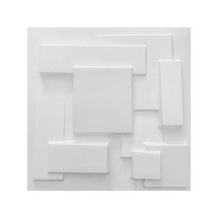 Painel 3D Autoadesivo Cidades Branco
