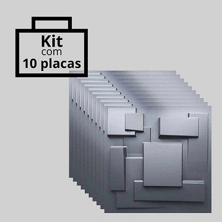 Kit com 10 unidades - Painel 3D Autoadesivo Cidades Preto