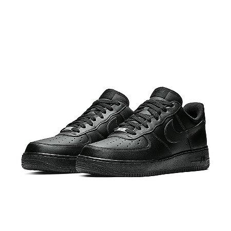 Tênis Nike Air Force 1 07 Sintético Masculino - Preto-Preto