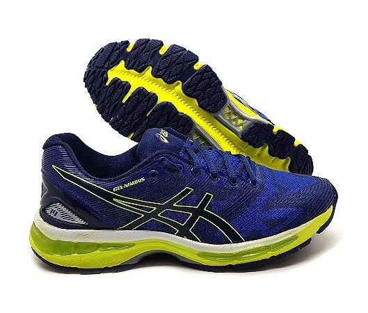 Tênis Masculino Asics Nimbus 19 - Azul