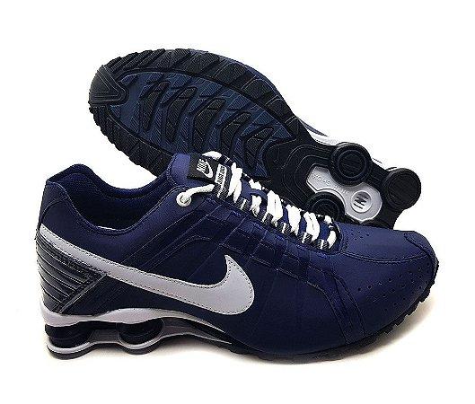 Tênis Nike Shox Junior Masculino - Azul e Branco