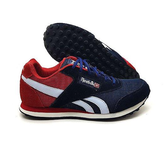 Tênis Reebok Classic Retro - Azul e Vermelho