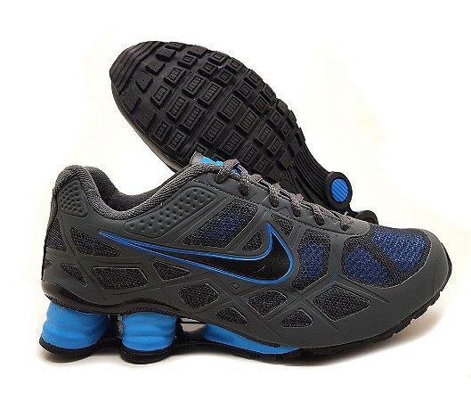 Tênis Nike Shox Turbo 14 Masculino - Cinza e Azul