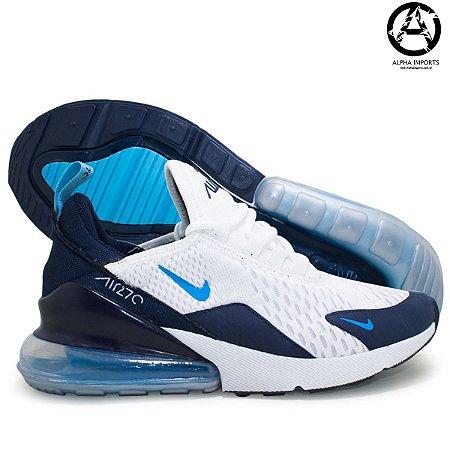 Tênis Nike Air Max 270 Masculino - Branco e Azul