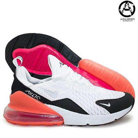 Tênis Nike Air Max 270 Masculino - Preto e Laranja