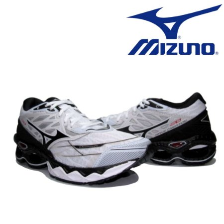 Tênis Masculino Mizuno Wave Creation 20 - Preto e Branco | Lançamento