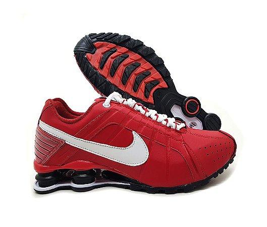 Tênis Nike Shox Junior Masculino Vermelho e Branco | Promoção