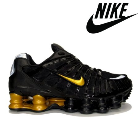 Tênis Nike Shox 12 Molas Masculino - Preto Ouro | Linha Premium