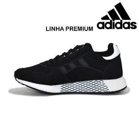 Tênis Adidas Marathon Tech Masculino - Preto e Branco| Lançamento