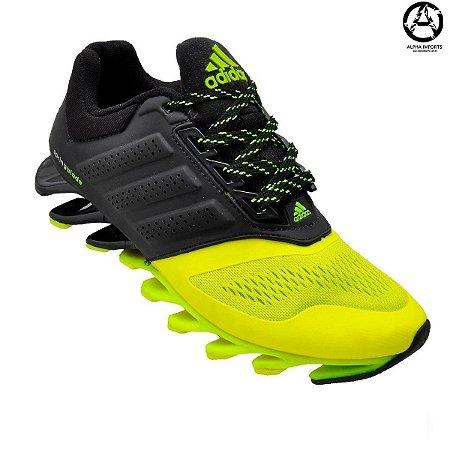 Tênis Adidas Springblade Masculino - Preto e Verde | Oferta