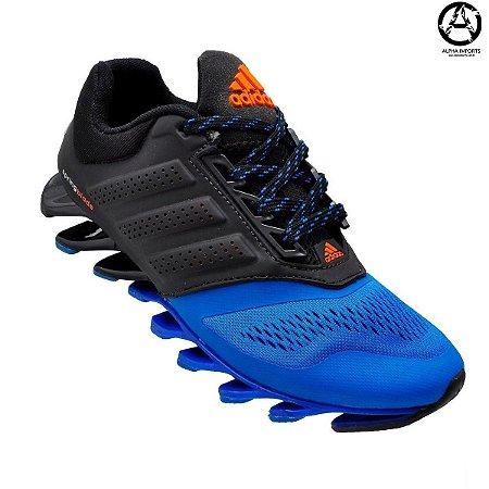 Tênis Adidas Springblade Masculino Preto e Azul | Promoção