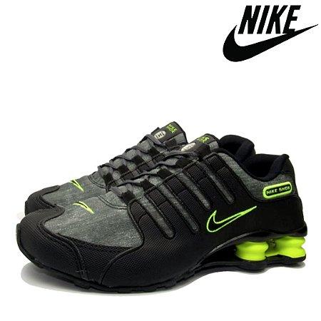 Tênis Masculino Nike Shox NZ EU Jeans Premium - Cinza