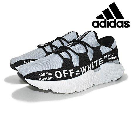 Tênis Adidas OFF White TM Will Masculino - Cinza Preto