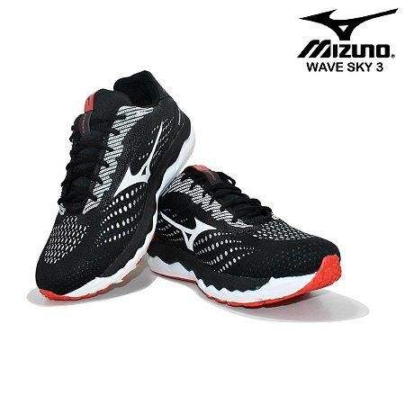 Tênis Mizuno Wave Sky 3 IronMan Masculino - Preto e Vermelho