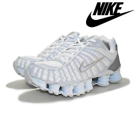 Tênis Nike Shox TM 12 Molas Refletivo Masculino - Branco