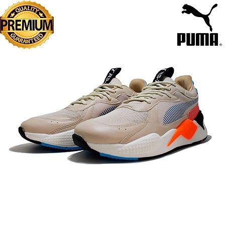 Tênis Puma RS-X Reinvent Masculino - Creme e Laranja
