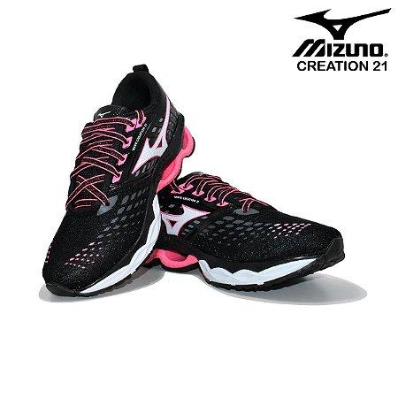 Tênis Mizuno Wave Creation 21 Feminino - Preto e Rosa