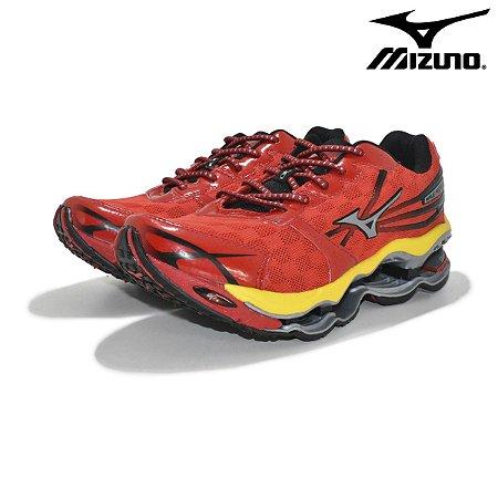 Tênis Mizuno Wave Prophecy 2 Masculino - Vermelho e Amarelo