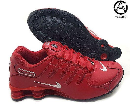 Tênis Nike Shox NZ Masculino Importado - Vermelho