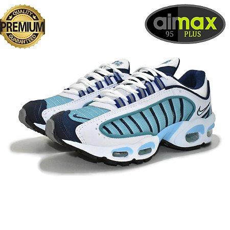 Tênis Nike Air Max 95 Plus IV Masculino - Branco e Água