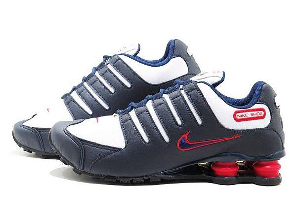 Tênis Masculino Nike Shoz NZ Linha Premium - Marinho e Vermelho