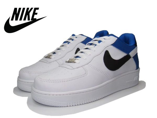 Tênis Nike Air Force NBA Edition Masculino - Branco e Azul