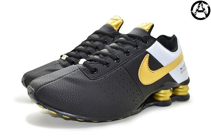 Tênis Nike Shox Classic Deliver Masculino - Preto Ouro
