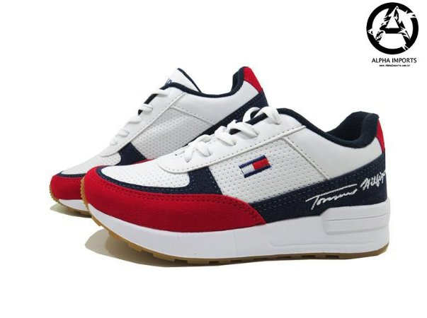 Tênis Tommy Hilfiger Unissex Lançamento - Branco e Vermelho