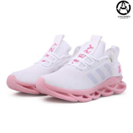 Tênis Adidas Maverick Yeezy Boost Feminino - Branco e Rosa