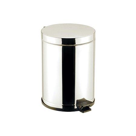 LIXEIRA C/PEDAL/RECIP PLASTICO-CORPO/TAMPA INOX-4,5 L