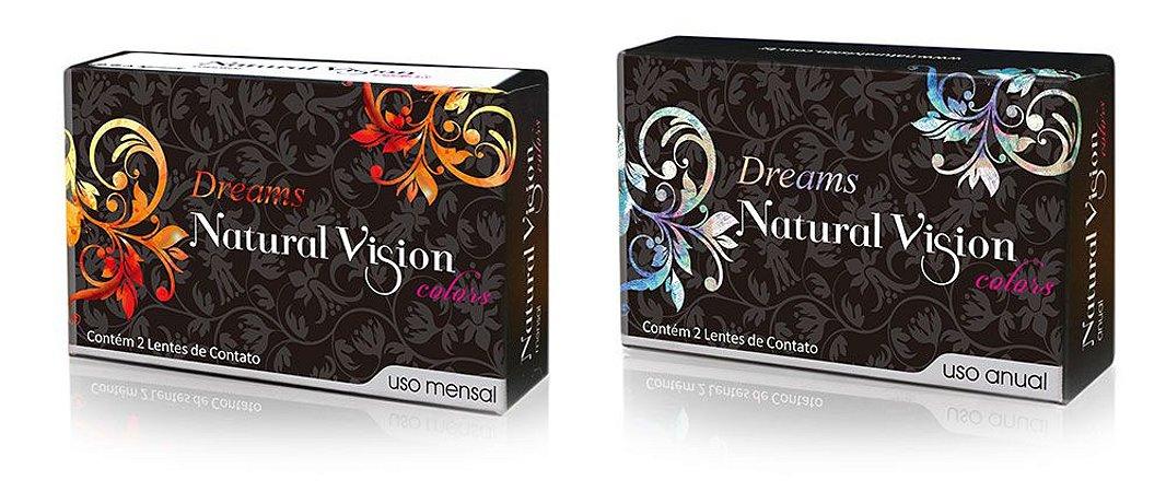 LENTE COLORIDA DESCARTE MENSAL NATURAL VISION MODELO DREAMS