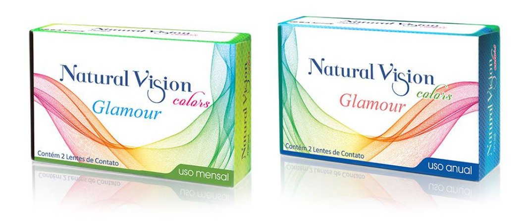 LENTE COLORIDA DESCARTE MENSAL NATURAL VISION MODELO GLAMOUR
