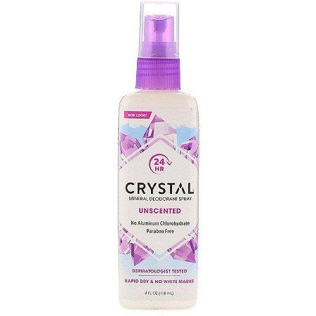 Crystal Desodorante para o corpo Mineral em Spray, Sem Fragrância, 118 ml
