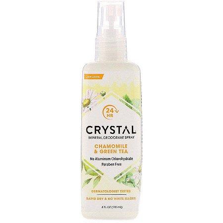 Crystal desodorante corporal Mineral em Spray de camomila & chá verde (118 ml)