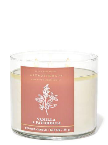 Vela 3 pavios Fragrância Aromatherapy Vanilla + Patchouli