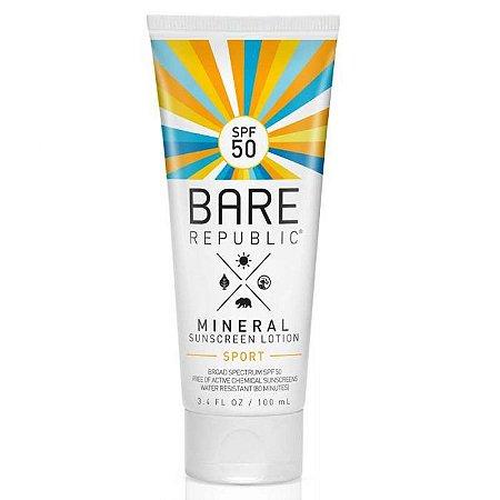 Protetor Solar Mineral SPF 50 Sport Sunscreen Lotion