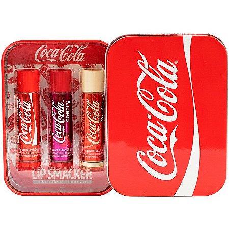 Lip Smacker  Coca-Cola Lip Balm kit com 3 unidades