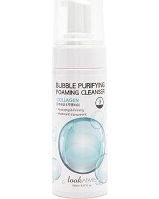 Espuma FacialKoreana Look at Me Bubble Purifying Foaming Cleanser Collagen