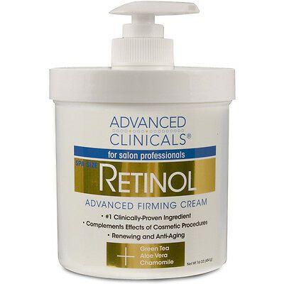 Advanced Clinicals, Retinol, Creme Firmador Avançado, 454 g