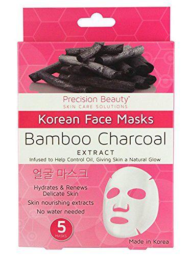 Bamboo Charcoal Korean Face Mask 5 unidades