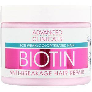 Máscara Reparação de cabelo com Biotina Advanced Clinicals 340mg