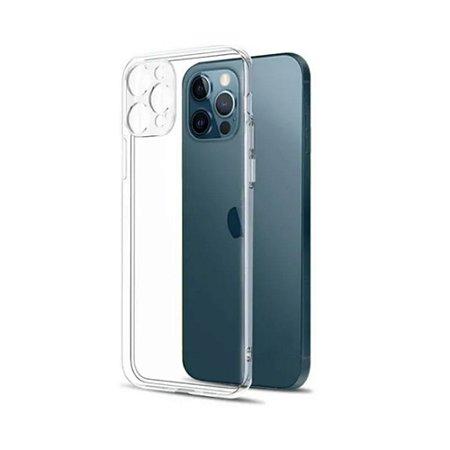 Capa Silicone para iPhone 12 Pro Proteção de Câmera -Incolor